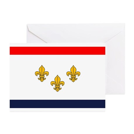 Flag of New Orleans Greeting Cards (Pk of 10)
