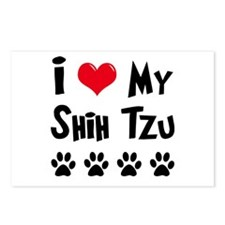 I Love My Shih Tzu Postcards (Package of 8)