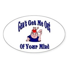 Me In Your Mind Oval Decal