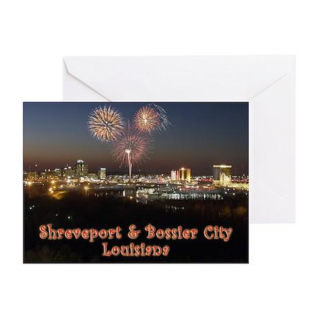 Shreveport Skyline Greeting Cards (Pk of 10)
