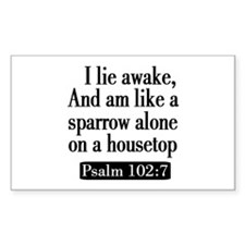 Psalm 102:7 Decal