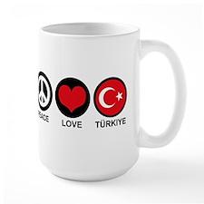 Peace Love Turkiye Mug