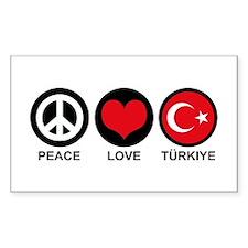 Peace Love Turkiye Decal