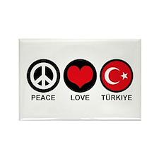 Peace Love Turkiye Rectangle Magnet