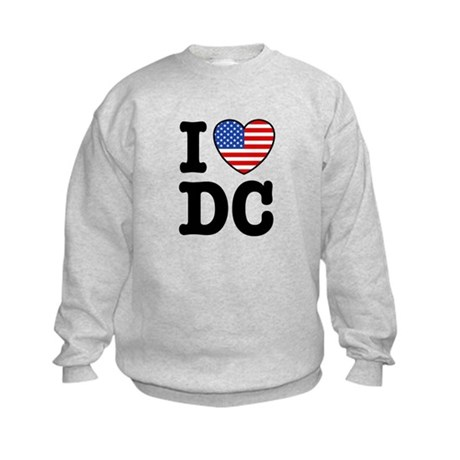 I Love DC Kids Sweatshirt