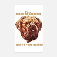 Dogue Excuse Rectangle Decal