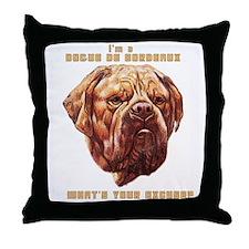 Dogue Excuse Throw Pillow