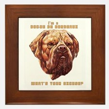 Dogue Excuse Framed Tile