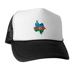 3D Map Of Azerbaijan Trucker Hat
