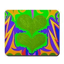 Angel Hearts Light Green & Li Mousepad
