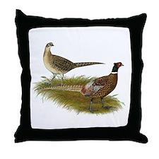 Ringneck Pheasant Pair Throw Pillow