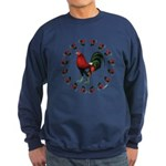 Rooster Circle Sweatshirt (dark)