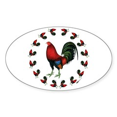 Rooster Circle Decal