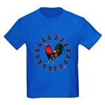 Rooster Circle Kids Dark T-Shirt