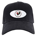 Rooster Circle Black Cap