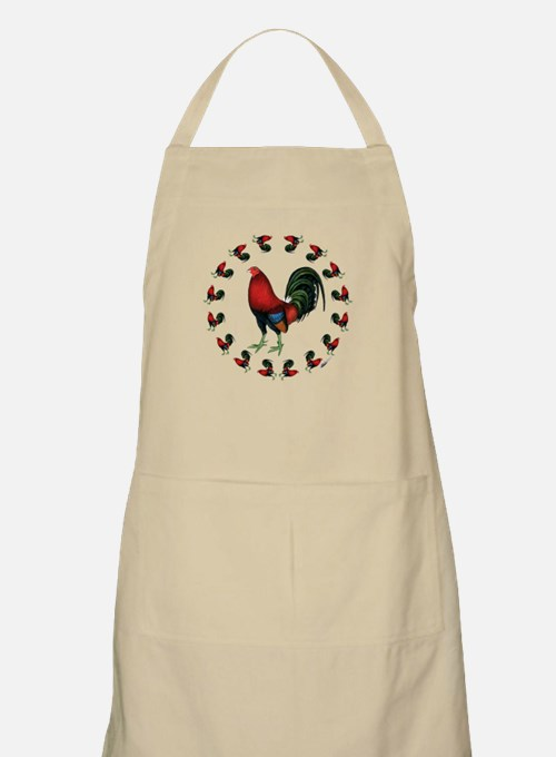 Rooster Circle Apron