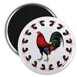"Rooster Circle 2.25"" Magnet (10 pack)"