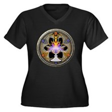 Pagan Great Rite Women's Plus Size V-Neck Dark T-S