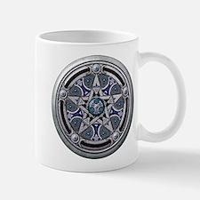 Silver Pagan Pentacle Mug