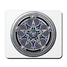 Silver Pagan Pentacle Mousepad
