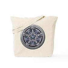 Silver Pagan Pentacle Tote Bag