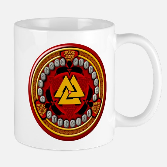 Red Viking Runes Mug
