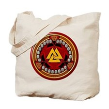 Red Viking Runes Tote Bag