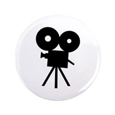"Film camera - movie 3.5"" Button (100 pack)"