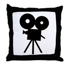 Film camera - movie Throw Pillow