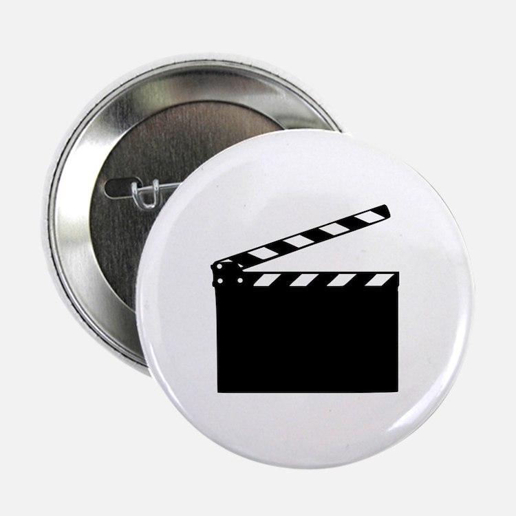 """Movie - clapperboard 2.25"""" Button"""