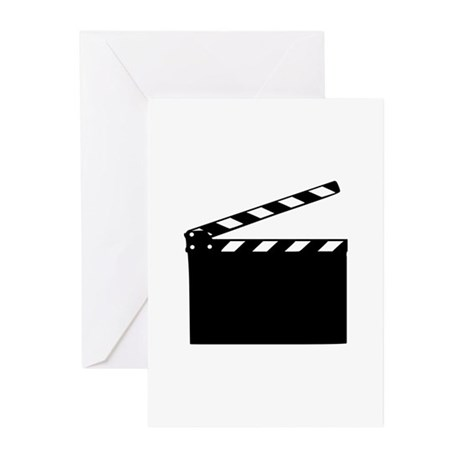 Movie - clapperboard Greeting Cards (Pk of 10)