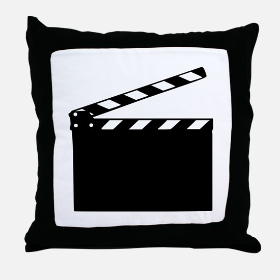 Movie - clapperboard Throw Pillow