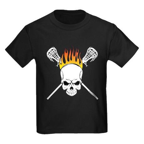 Skull Lacrosse Kids Dark T-Shirt