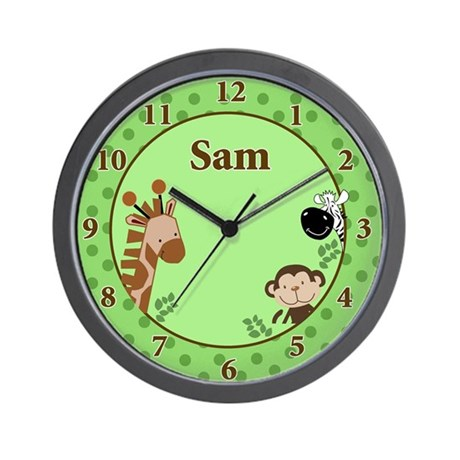 Jungle Adventure Wall Clock - Sam