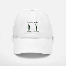 France vs USA Baseball Baseball Cap