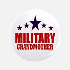 """Military Grandmother 3.5"""" Button"""