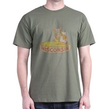 Faded Vintage Wisconsin Cheese T-Shirt