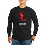 Map Of Bahrain Long Sleeve Dark T-Shirt