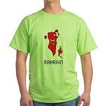 Map Of Bahrain Green T-Shirt