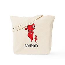 Map Of Bahrain Tote Bag