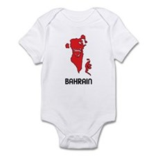 Map Of Bahrain Infant Bodysuit