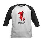 Map Of Bahrain Kids Baseball Jersey