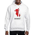 Map Of Bahrain Hooded Sweatshirt
