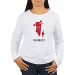 Map Of Bahrain Women's Long Sleeve T-Shirt