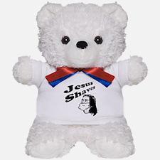 Jesus Shaves Teddy Bear