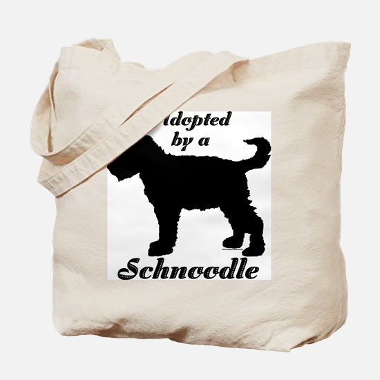 ADOPTED by a Schnoodle Tote Bag