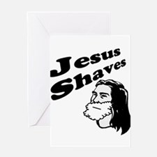 Jesus Shaves Greeting Card