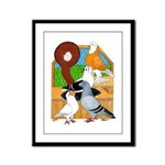 Five Pigeons Framed Panel Print