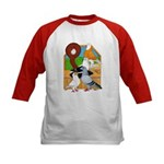 Five Pigeons Kids Baseball Jersey