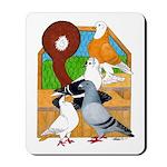 Five Pigeons Mousepad